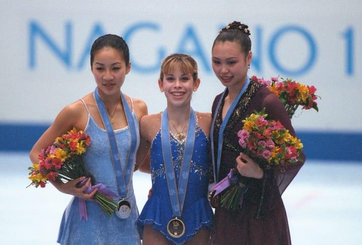 Tara Lipinski wins gold at the 1998 Winter Olympics.
