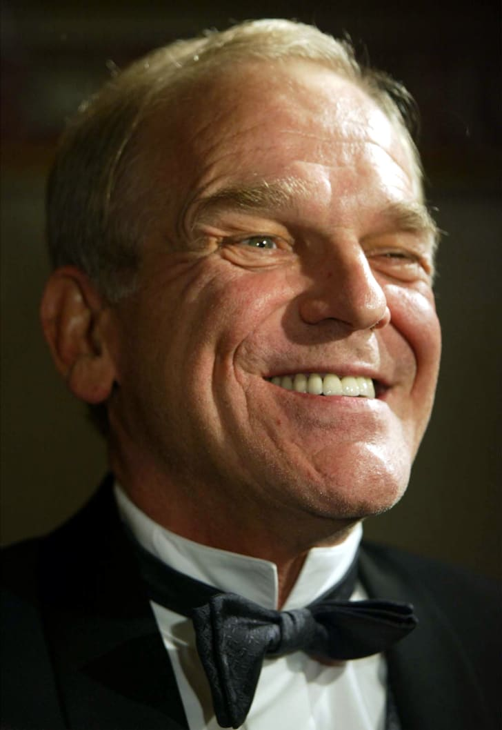"""Actor John Spencer, of """"The West Wing """" television program, attends the 2002 Service to America Medals Awards November 13, 2002 in Washington, DC"""