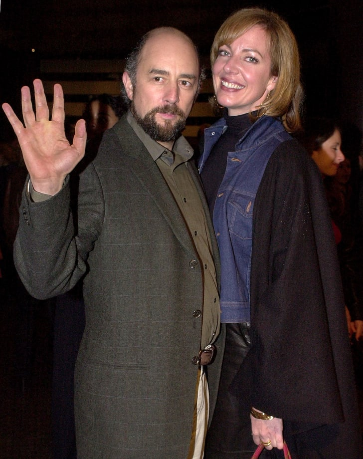"Actress Allison Janney (R) arrives at the premiere of her new miniseries ""A Girl Thing"" with co-star of television series ""The West Wing"" Richard Schiff (L), January 10, 2001 in Hollywood, CA"