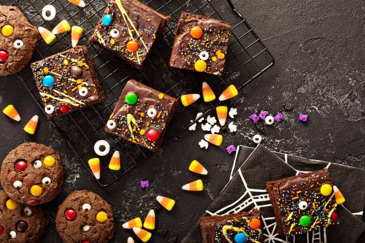 Halloween candy and brownies