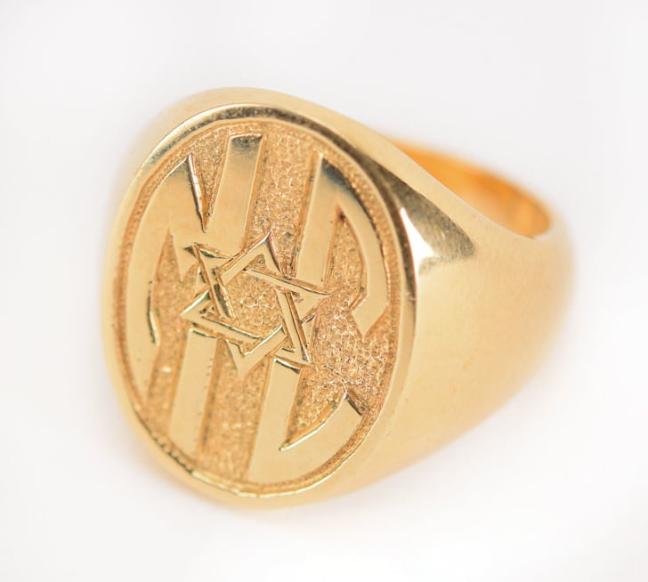 Mickey Cohen gold ring