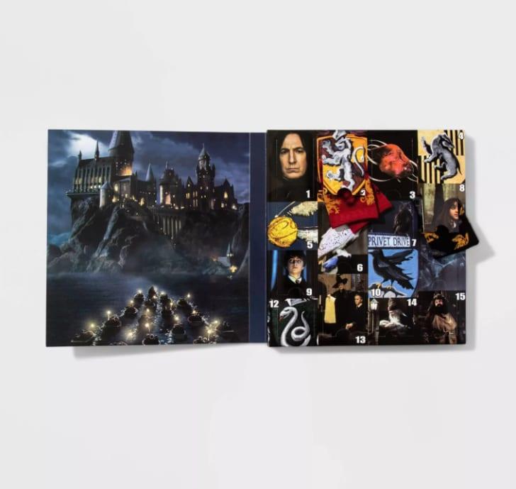 Harry Potter sock advent calendar.