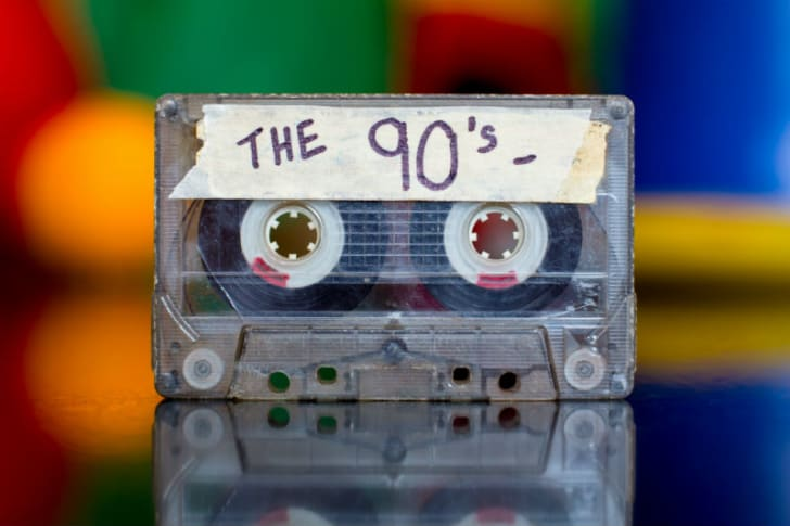 A cassette tape is pictured
