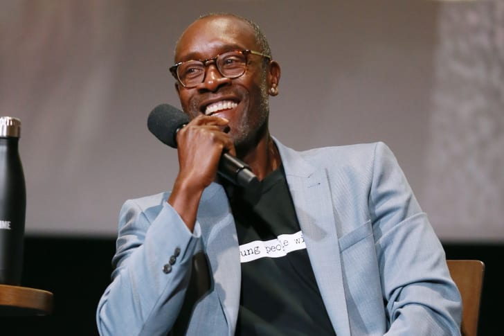 """Don Cheadle during the panel discussion at the FYC Red Carpet Event For Showtimes' """"Black Monday"""" at Saban Media Center on May 14, 2019 in North Hollywood, California"""