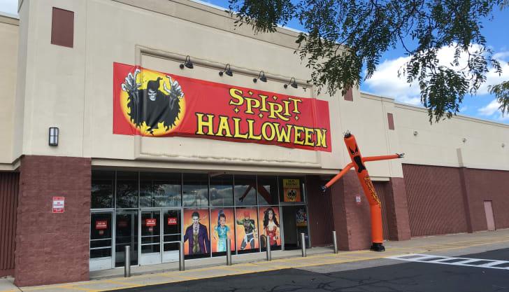 Outside of Spirit Halloween store.