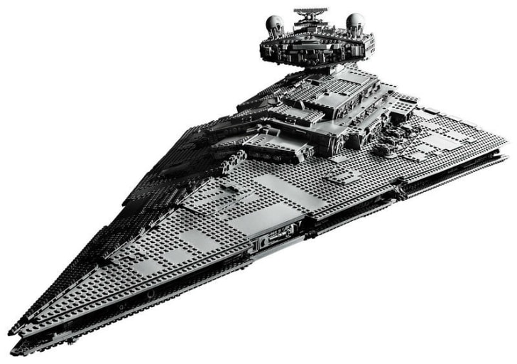 The LEGO Star Wars Star Destroyer set is pictured
