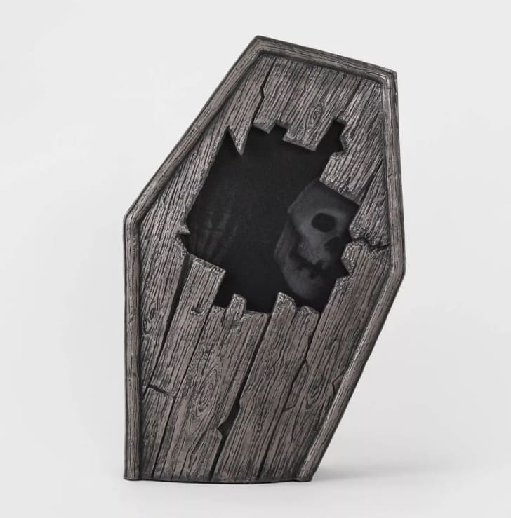 Animated Dug Up Coffin Decorative Halloween Prop