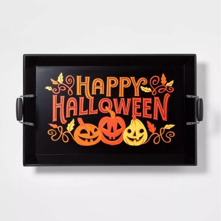 """Happy Halloween"" Wood Serving Tray"