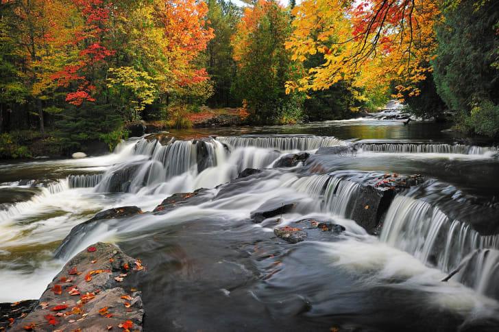 Michigan Upper Peninsula fall foliage