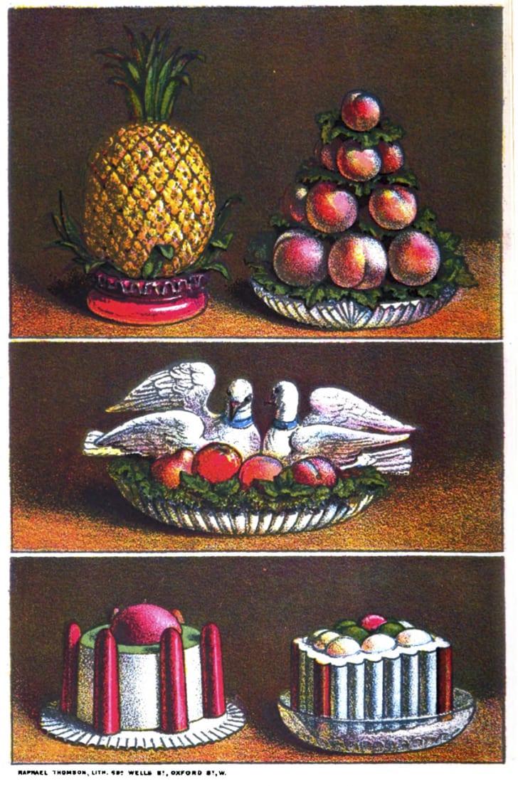 Agnes B Marshall ice cream molds