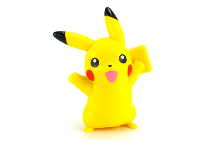 Pickachu toy character from Pokemon anime
