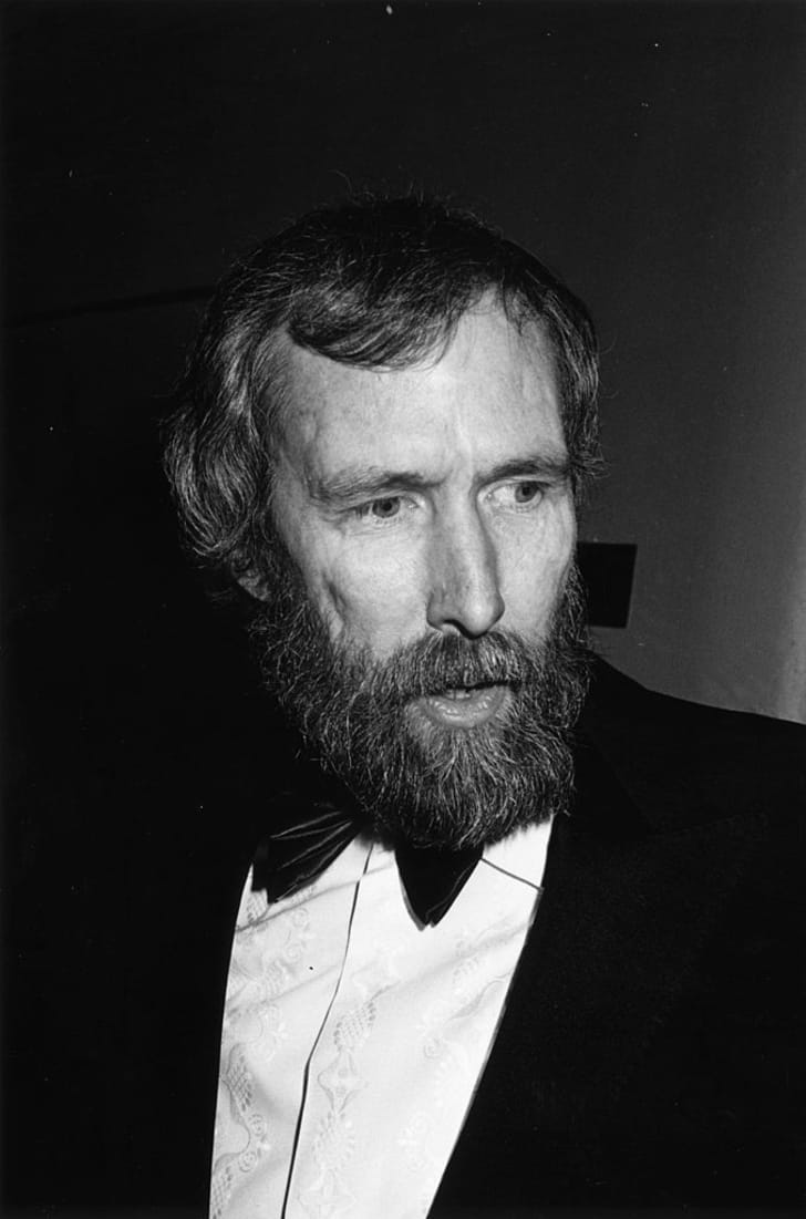 Jim Henson (1936 - 1990), the creator of the Muppets at the BAFTA awards at the Grosvenor Hotel, London