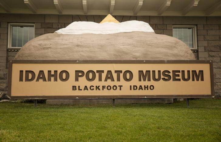 The exterior of The Idaho Potato Museum in Blackfoot, Idaho
