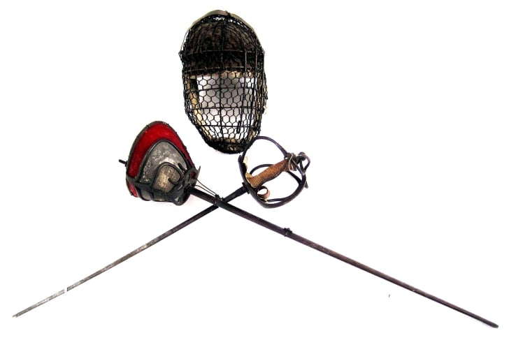 Fencing gear connected to the Corps Hannovera Gottingen