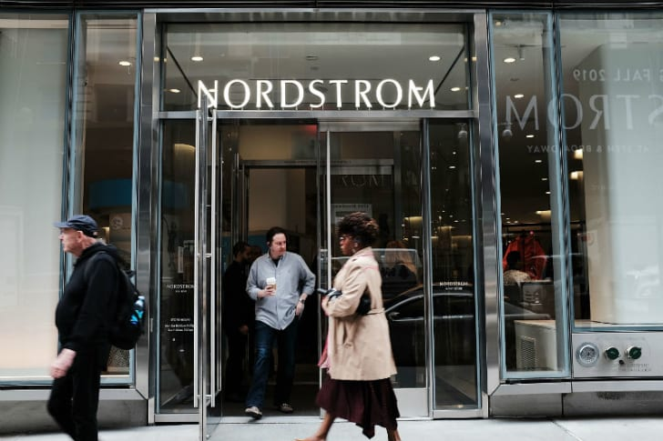 The exterior of a Nordstrom store in New York City is pictured in May 2018