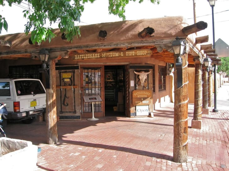 Entrance to the Rattlesnake Museum in Albuquerque