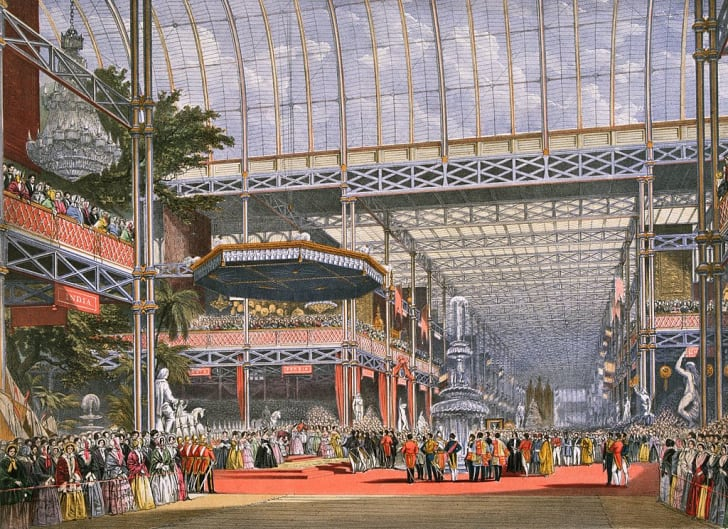 1851: The Inauguration of the Great Exhibition in Crystal Palace, the glass and iron building designed by Joseph Paxton, at Hyde Park, London. It was officially opened by Queen Victoria