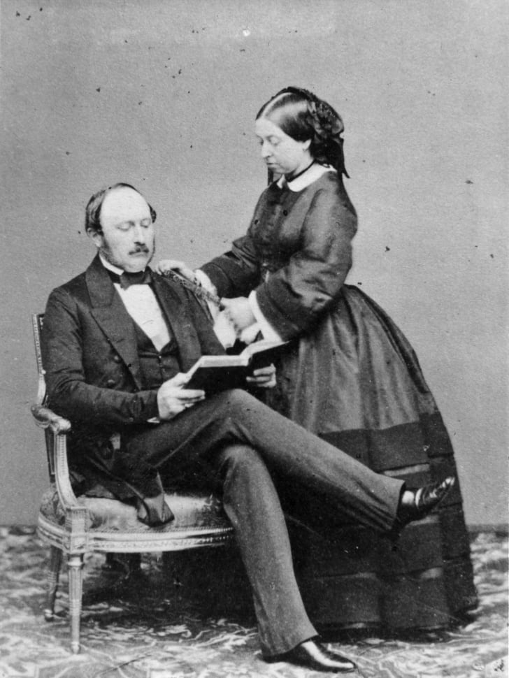 Queen Victoria and her beloved Prince Albert, the Prince Consort, at Buckingham Palace.