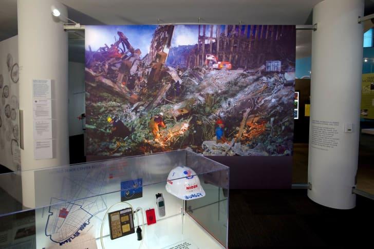 An exhibition inside the David J. Sencer CDC Museum