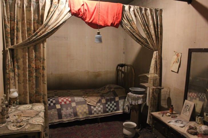 A room inside the Historic Dumas Brothel Museum