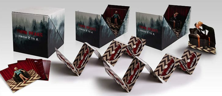 The box for the 'Twin Peaks: From Z to A' Blu-ray DVD set is pictured