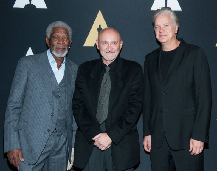 (L-R) Morgan Freeman, Frank Darabont, and Tim Robbins attend a 20th anniversary Academy of Motion Picture Arts and Sciences screening of 'The Shawshank Redemption' at the Samuel Goldwyn Theater in Beverly Hills in 2014