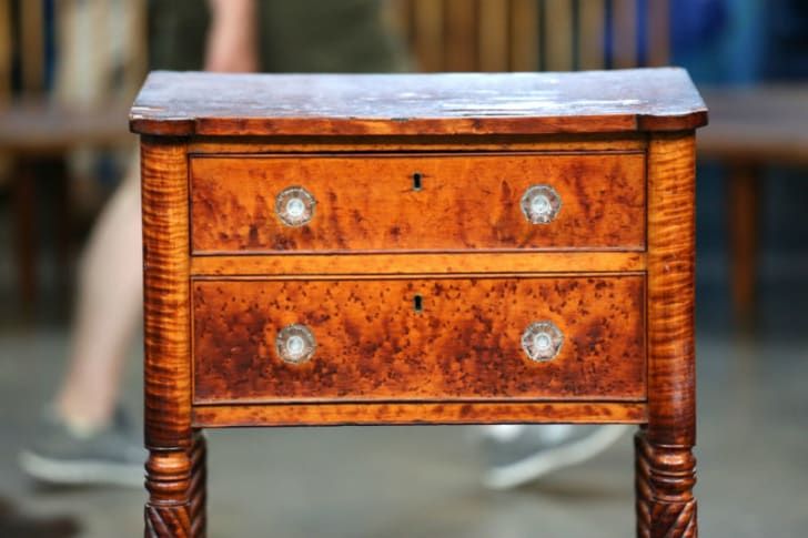 A Matthew Egerton Jr. stand from 'Antiques Roadshow' is pictured