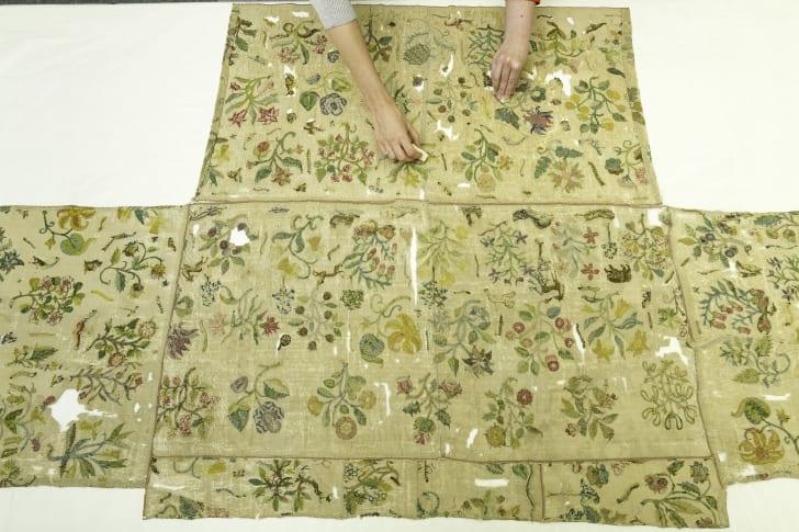 Bacton altar cloth from Elizabeth I's dress