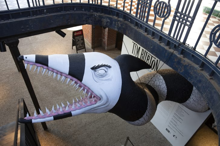 A Tim Burton sculpture representative of what will be on display at the Neon Museum.