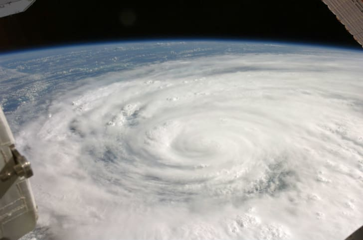 Hurricane Ike is seen over Cuba in a photo taken by the International Space Station in September 2008