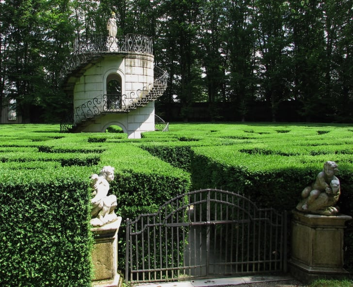 The labyrinth at Villa Pisani