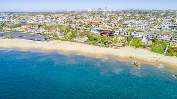Aerial view of Newport Beach, California