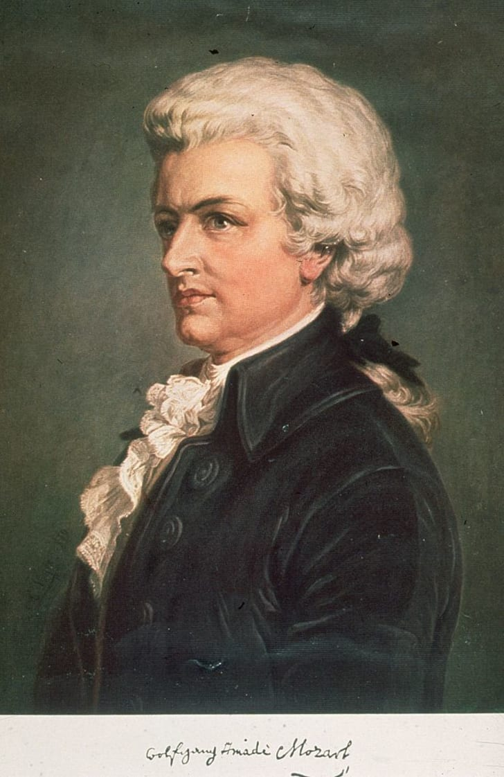 Austrian composer Wolfgang Amadeus Mozart circa 1789