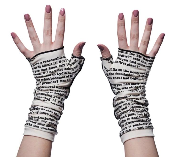 Storiarts' Pride and Prejudice writing gloves