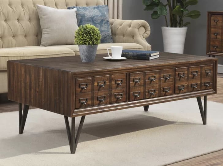 Pacheco card catalog coffee table