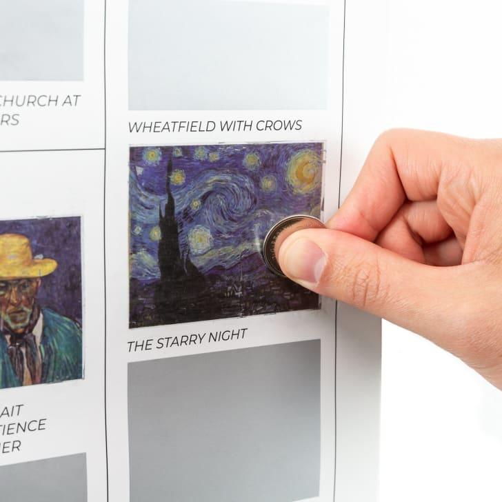 Vincent van Gogh scratch-off poster