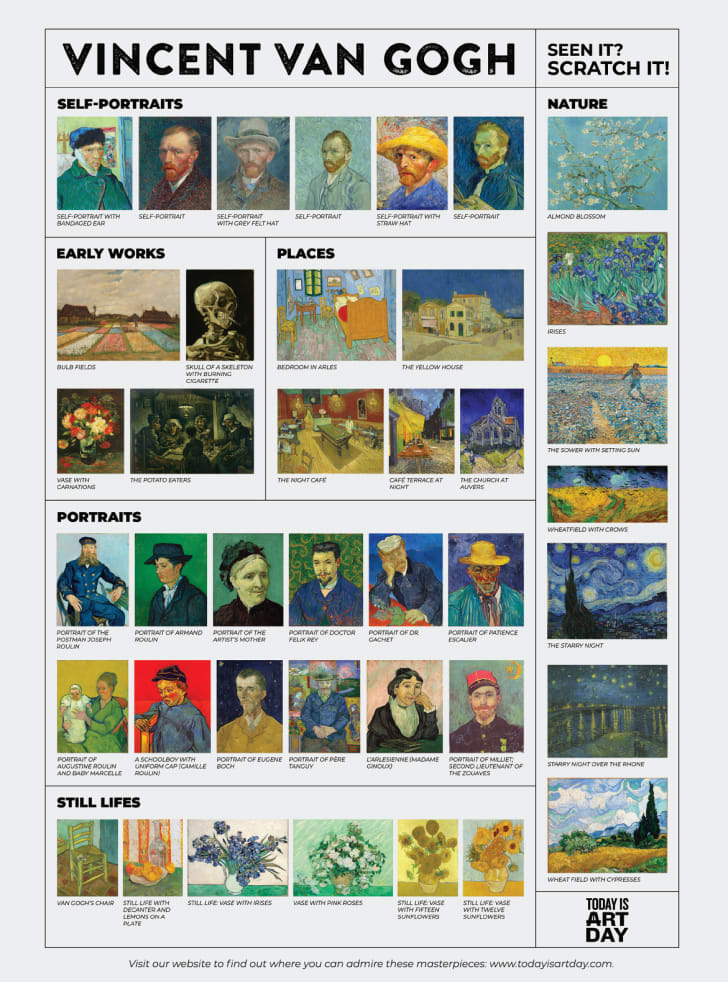 Vincent van Gogh scratch-off poster