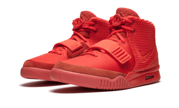 Nike's Air Yeezy 2 Red October sneakers.