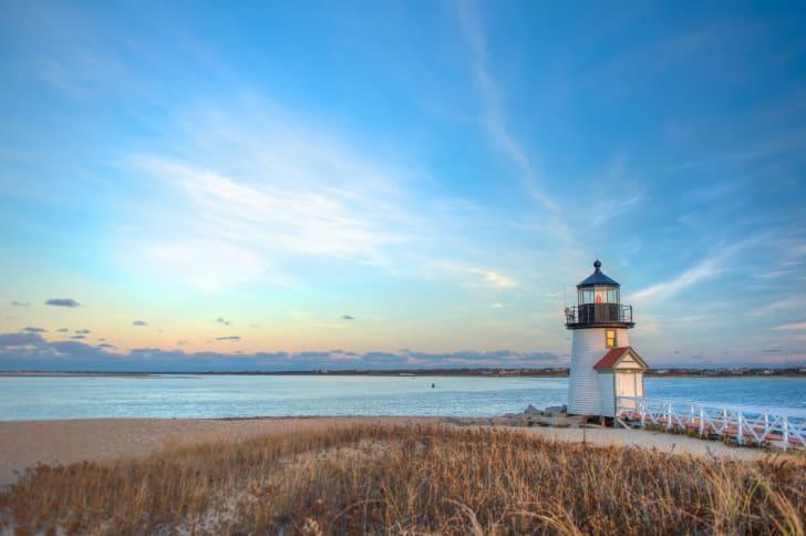 Brant Point Lighthouse in Nantucket, Massachusetts