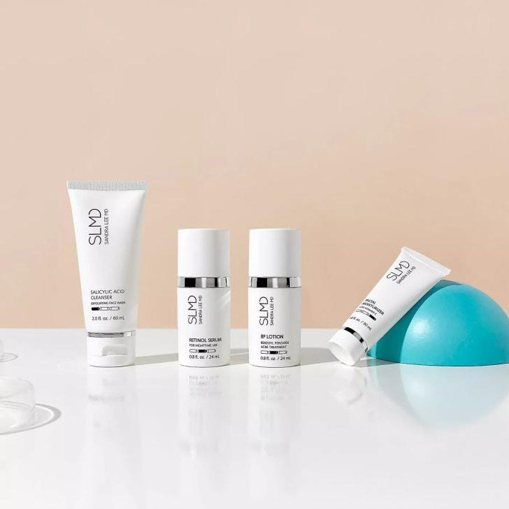 A four-piece SLMD skincare kit