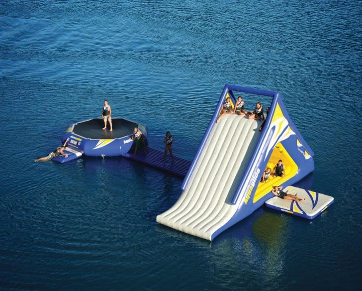 Kids play on the Aquaglide Summit Express