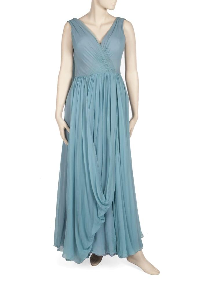 Elizabeth Taylor blue Oscar gown