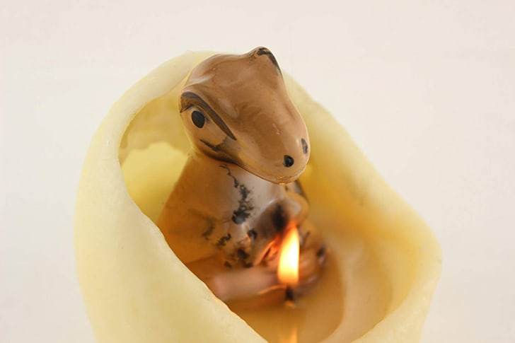 Dinosaur candle