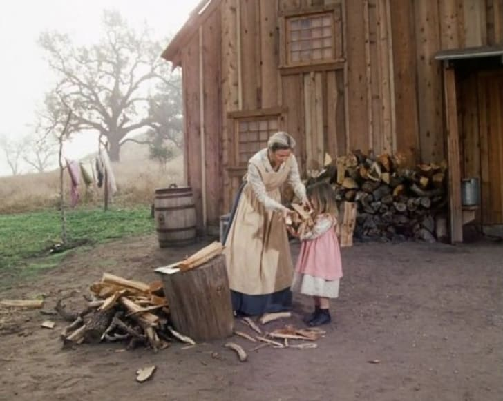 Karen Grassle in Little House on the Prairie