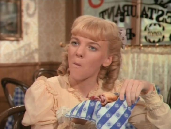 Alison Arngrim in Little House on the Prairie