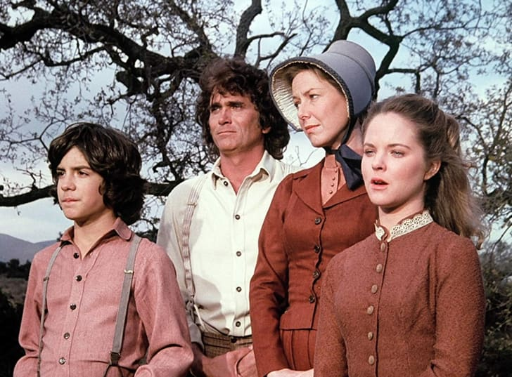 Melissa Sue Anderson, Michael Landon, Karen Grassle, and Matthew Labyorteaux in Little House on the Prairie