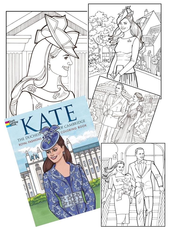 kate middleton fashion coloring book