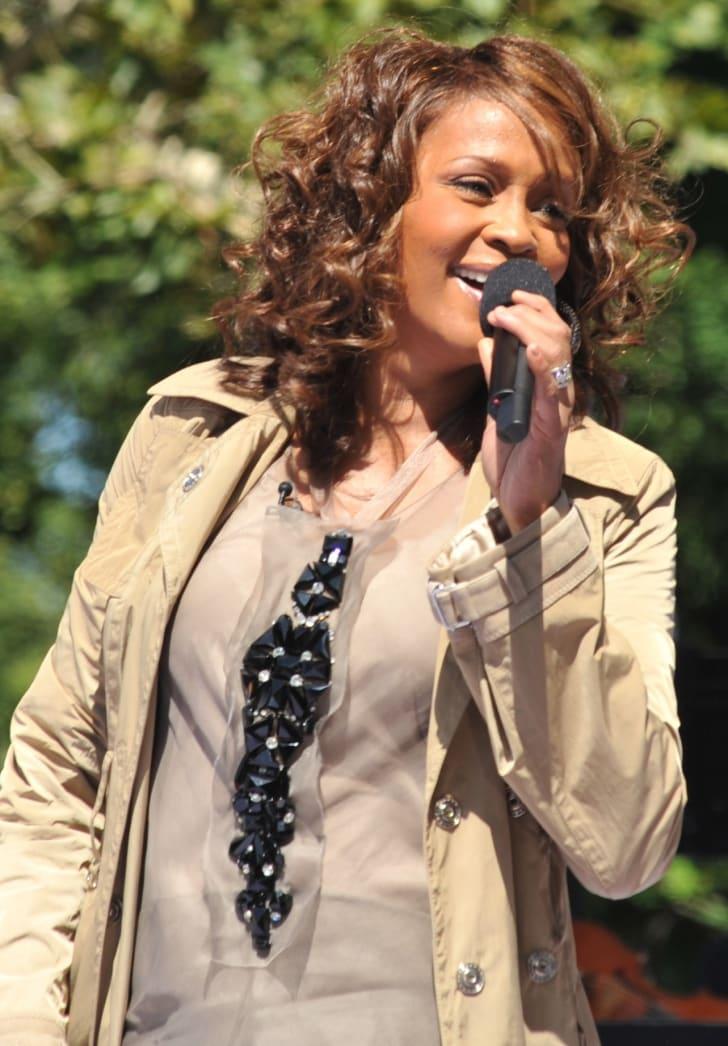 American singer Whitney Houston performing on Good Morning America (Central Park, New York City) on September 1, 2009.