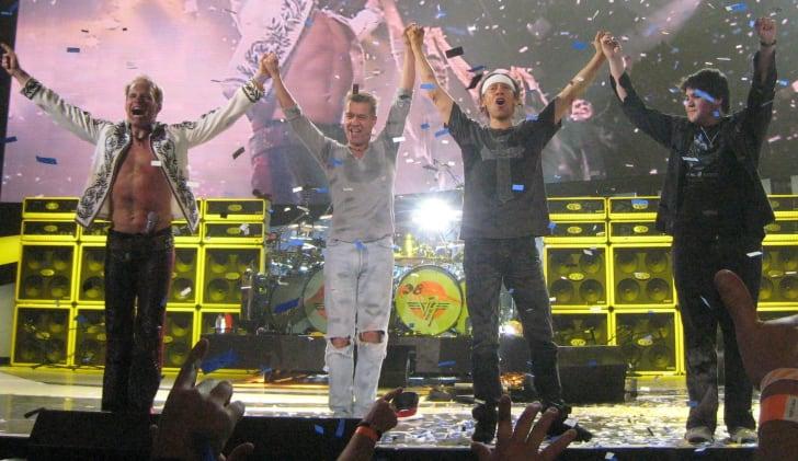 Van Halen performing in 2008