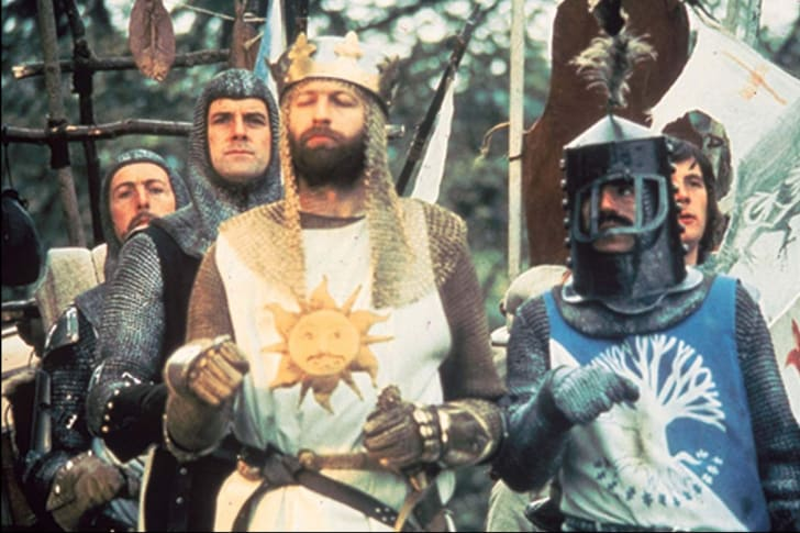 John Cleese, Graham Chapman, Eric Idle, Terry Jones, and Michael Palin in Monty Python and the Holy Grail (1975)